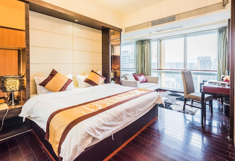 Nomo Service Apartment Grand Continental, Guangzhou, Deluxe Room, 1 Katil Kelamin (Double) (Distant View), Bilik Tamu