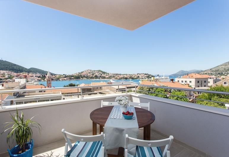 Apartments Villa Karmen, Dubrovnik, Apartamento, 3 quartos, Vista para o mar, Varanda
