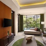 Suite - 1 queensize-seng - udsigt til pool - Værelse