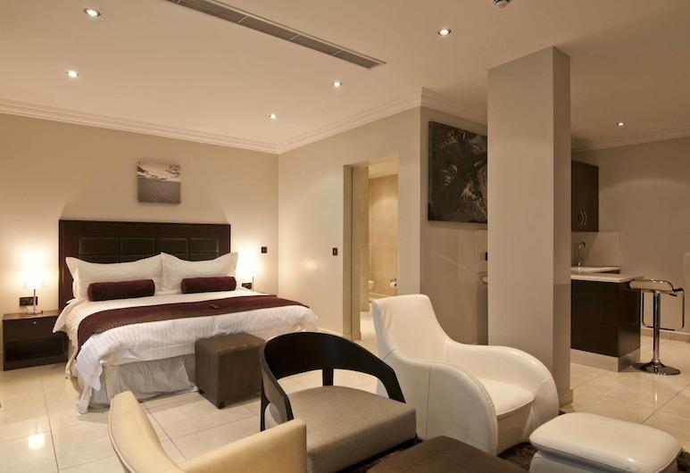 L'eola Suites, אבוג'ה, סוויטת סטודיו דה-לוקס, מיטת קינג, מטבחון, חדר אורחים