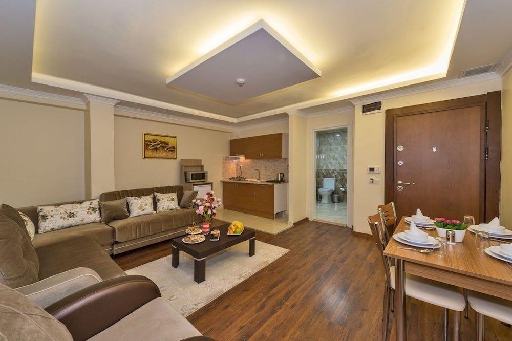 Apartamento Deluxe, bañera de hidromasaje - Zona de estar