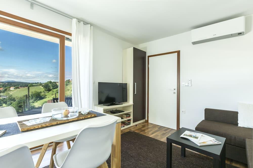 منزل بريميم - غرفة نوم واحدة - بمنظر لكرمة العنب - منطقة المعيشة