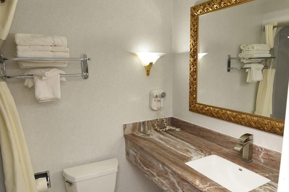 Habitación familiar doble, 2 habitaciones, no fumadores, frigorífico y microondas - Cuarto de baño