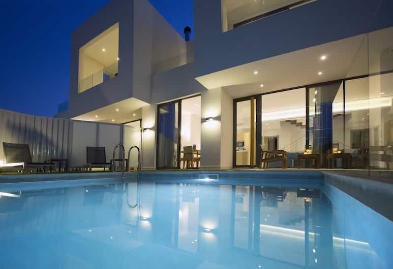 S&K Villas, Χανιά, Πρόσοψη καταλύματος - βράδυ
