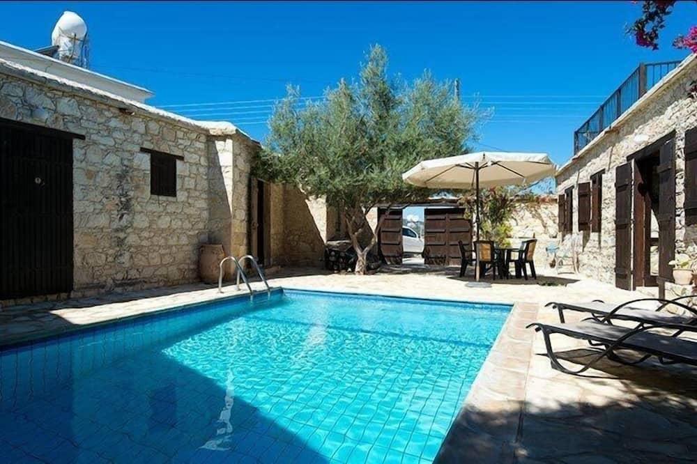 Casa de campo, 2 habitaciones, piscina privada - Terraza o patio