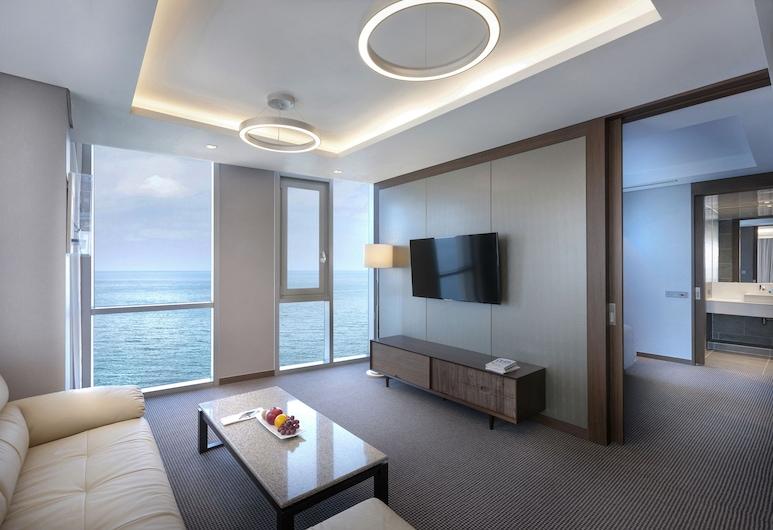 Hotel RegentMarine, Jeju City, Suite, Meerblick, Wohnzimmer