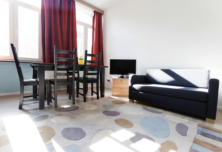 City Center Apartments Fourche, Brussels, Apartment, 1 Bedroom (Amsterdam), Living Room