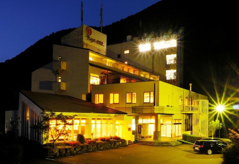 大步危溫泉太陽河酒店, 三好, 酒店入口 - 夜景