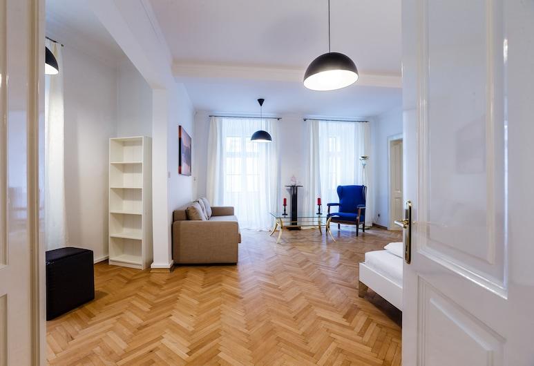 Judengasse Premium Apartments by Welcome2vienna, Viena, Apartamento premium, 2 quartos (Top 8, incl. cleaning fee ), Área de estar