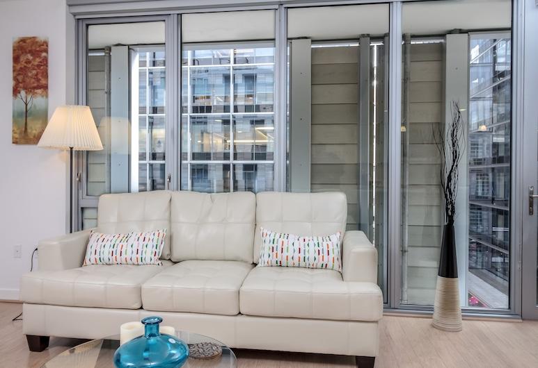 Downtown LA Fully Furnished Apartment, Los Angeles, Apartmán typu Premium, 2 spálne, bezbariérová izba, výhľad na mesto, Obývacie priestory