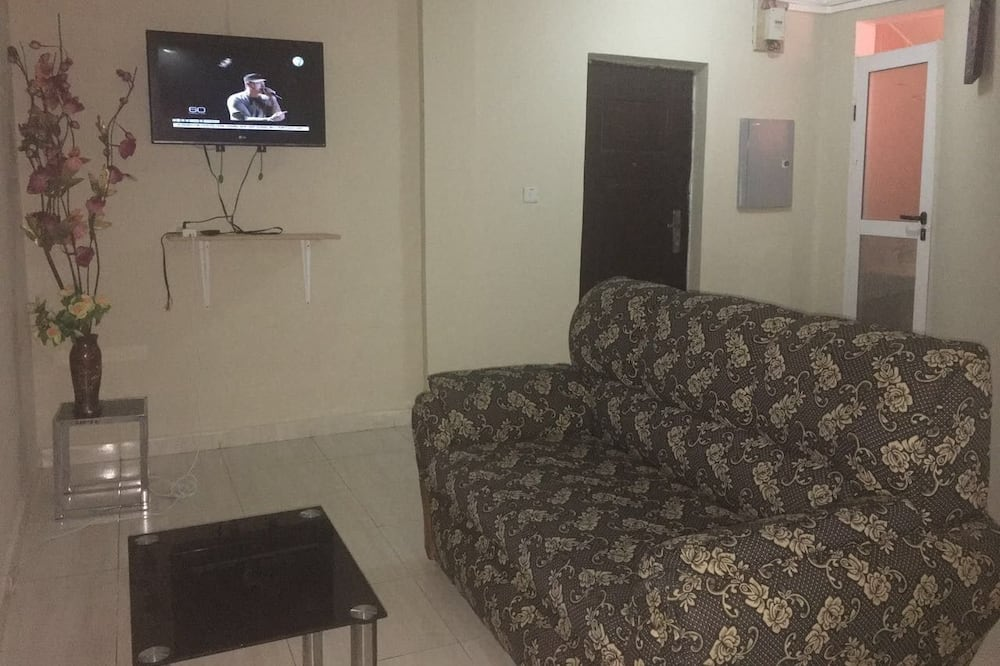 Deluxe suite, 1 kingsize bed - Woonruimte
