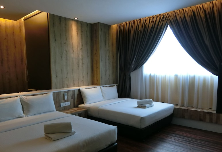 D Elegance Hotel, Gelang Patah, Obiteljska četverokrevetna soba, hladnjak, Soba za goste