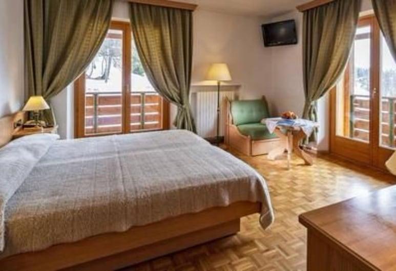 Hotel Piccolo Pocol, Cortina d'Ampezzo, Herbergi með tvíbreiðu rúmi (with extra bed), Herbergi