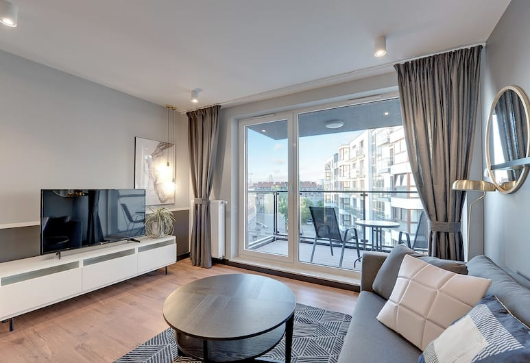 Apartinfo Chmielna Park Apartments, Gdansk, Deluxe Apartment, 1 Bedroom, Balcony ((with parking) - 113), Bilik Rehat