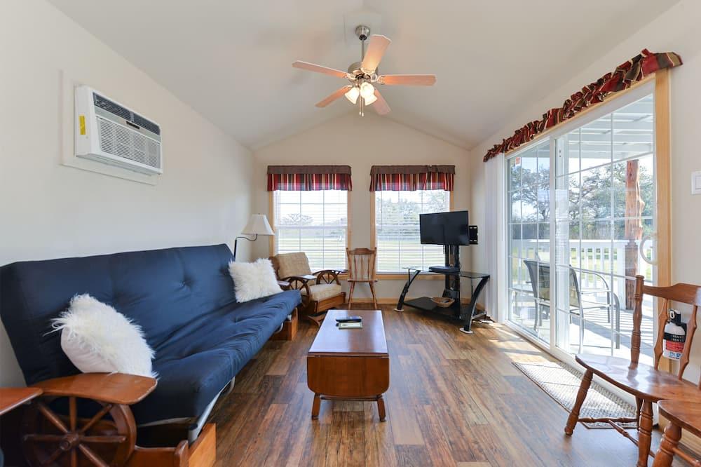 Deluxe Cabin, 1 Bedroom, Kitchenette - Living Area