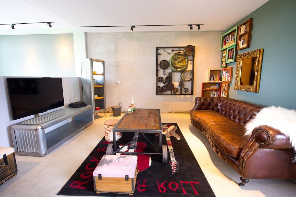 Čtyřlůžkový pokoj (Steam) - Obývací prostor