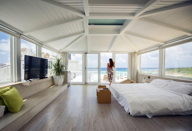 We Stay Inn, Heng-chun, Chambre Double, 1 grand lit, balcon, vue océan, Vue depuis la chambre