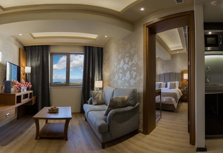 فندق الجوهرة, بيروت, جناح سوبيريور - غرفتا نوم - ثلاجة وميكروويف, الغرفة