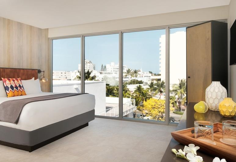 華盛頓公園飯店, 邁阿密海灘, 樓中樓客房, 1 張特大雙人床, 客房