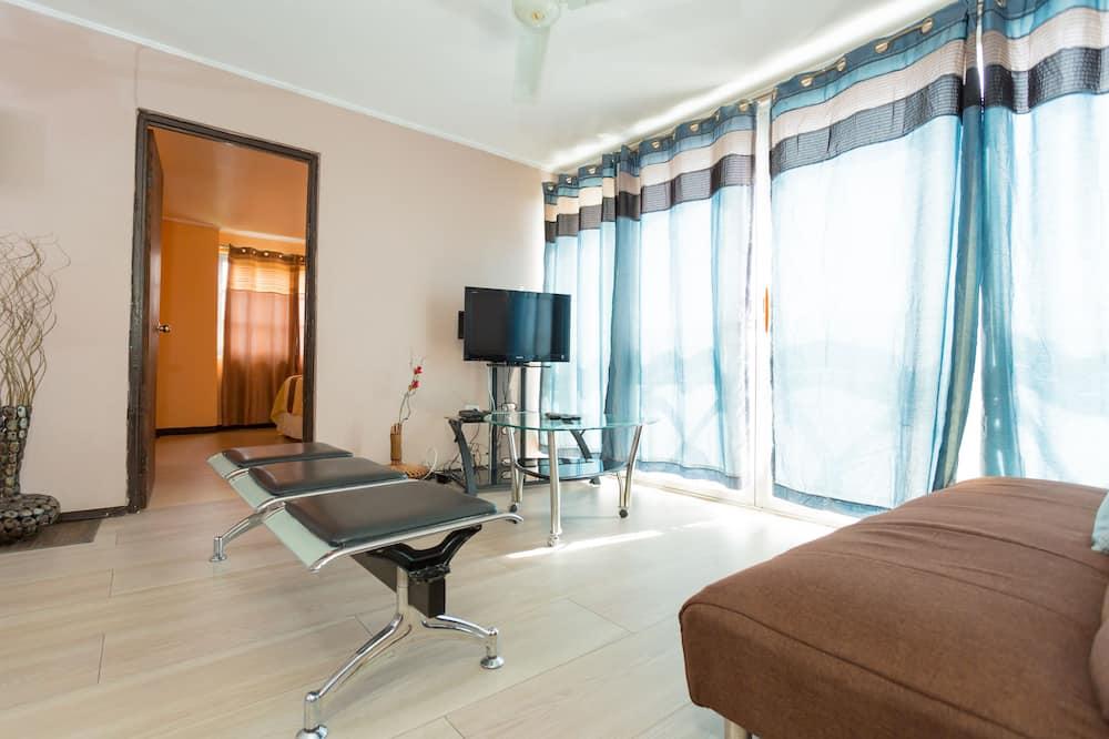 דירת פרימיום, 2 חדרי שינה, נוף לאוקינוס, קומת אקזקיוטיב - חדר