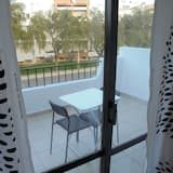 Dzīvokļnumurs, viena guļamistaba, skats uz dārzu - Balkons