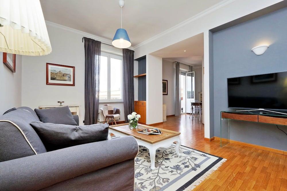 Апартаменти, 2 спальні, з балконом, з видом на місто (Via Celimontana 38) - Житлова площа