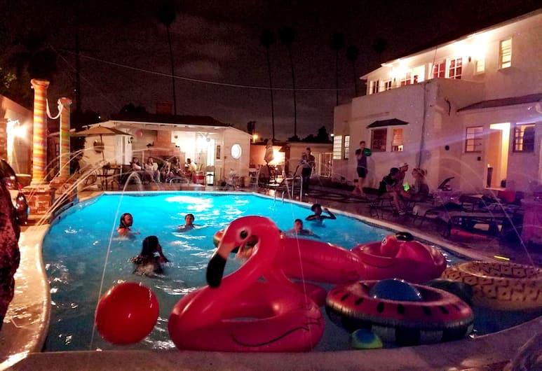 安德森莊園飯店, 洛杉磯, 奢華開放式套房, 2 張加大雙人床, 私人浴室, 室外游泳池