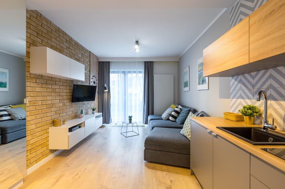Deluxe Studio Suite (Sandomierska 3 Street) - Ruang Tamu