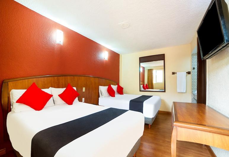 OYO Hotel Santa María , Mexico City, Pokój standardowy, 2 łóżka queen, Pokój