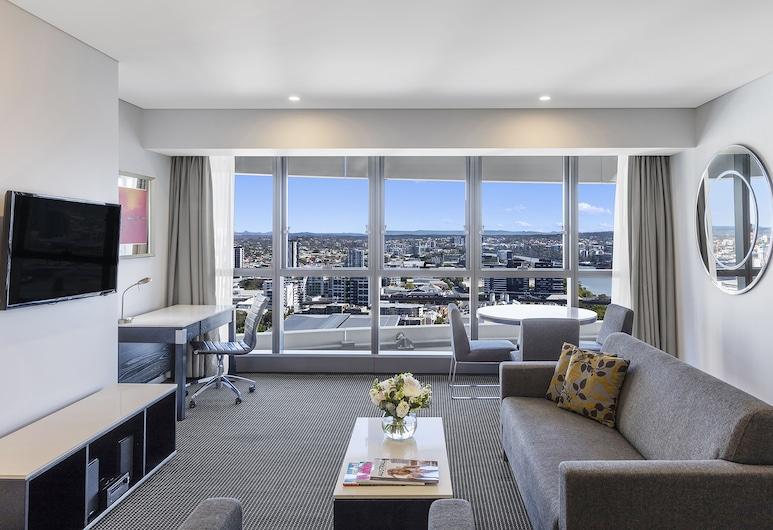 布里斯本赫歇爾街莫里頓公寓, 布里斯本, 套房, 1 間臥室 (Modern), 客廳