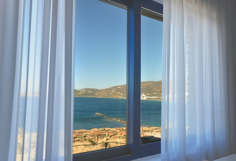Stavros Bay, Tinos, Villa, 2 habitaciones, vista al mar, frente al mar, Vista desde la habitación