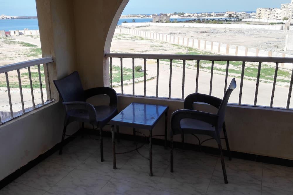Апартаменти, 2 спальні, з видом на пляж - Балкон