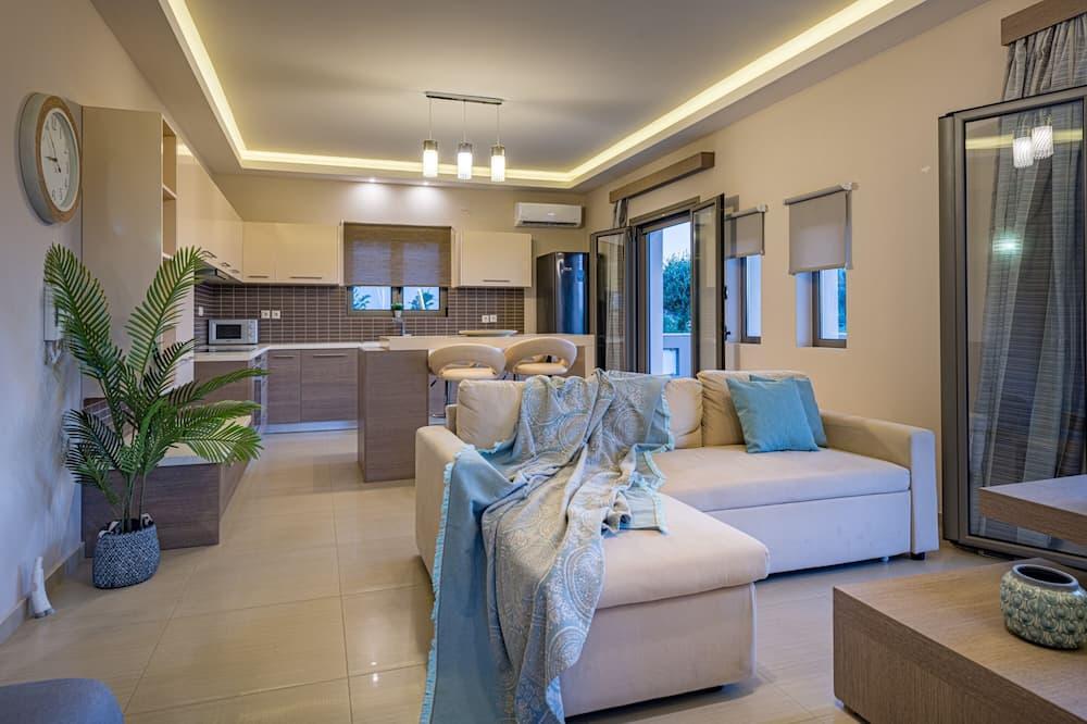 Villa, 2 habitaciones, vista parcial al mar - Sala de estar