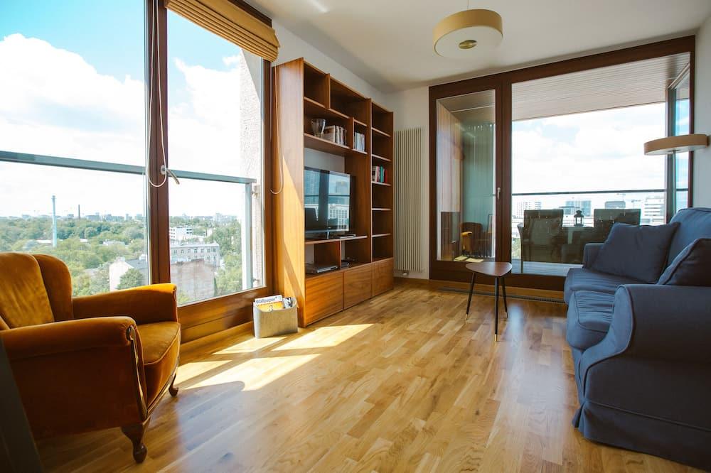 Premium külaliskorter, 2 magamistoaga, asukoht tornis/tornmajas - Lõõgastumisala