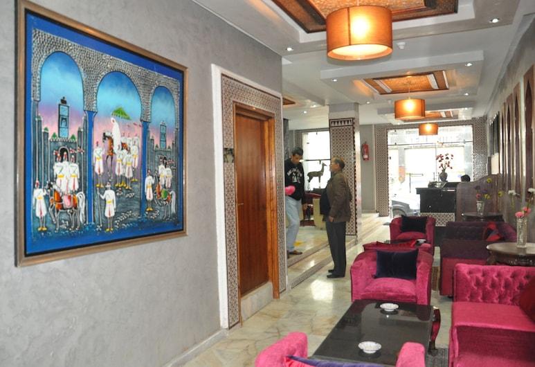 Hotel Colisee, Casablanca, Zona con asientos del vestíbulo