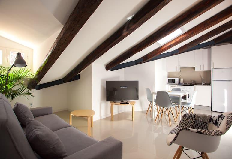 Malasaña Central Suites, Madrid, Penthouse, 1 Schlafzimmer (4 pax), Wohnbereich