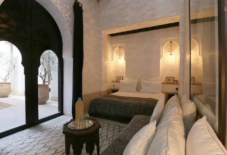 Riad Azzouna 13, Marrakech, Habitación superior con 1 cama doble o 2 individuales (Patio), Vista de la habitación