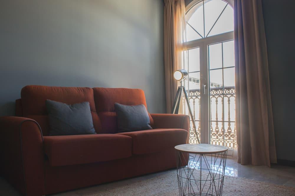 Studio, terrasse - Oppholdsområde