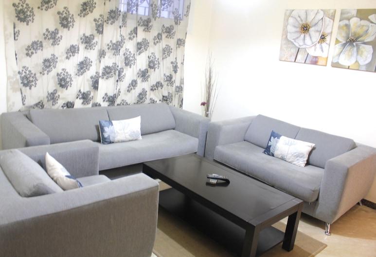 Appartements Maarif 1, Casablanca, Appartamento City, 1 letto king (Rue Arajaa, 2nd floor), Soggiorno