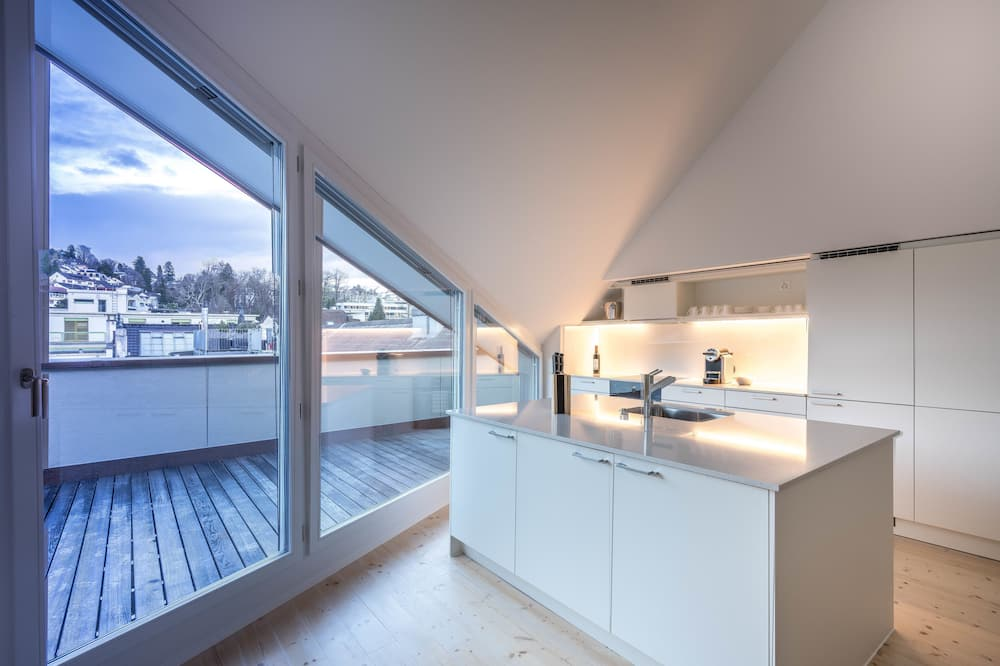 City Apartment, 1 Bedroom, Terrace - Private kitchen