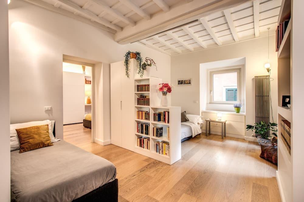 Appartement Deluxe, plusieurs lits (Via dei Gigli d'Oro, 26) - Coin séjour