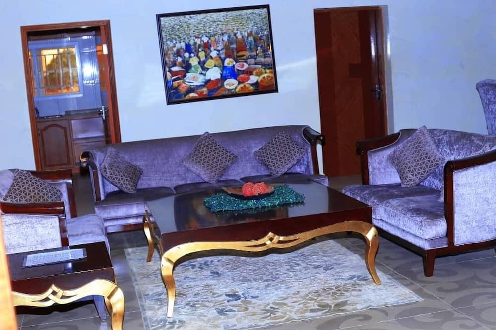 總統套房, 河景 - 客廳