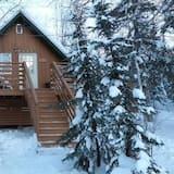 基本小屋, 多張床, 壁爐, 湖景 - 客房