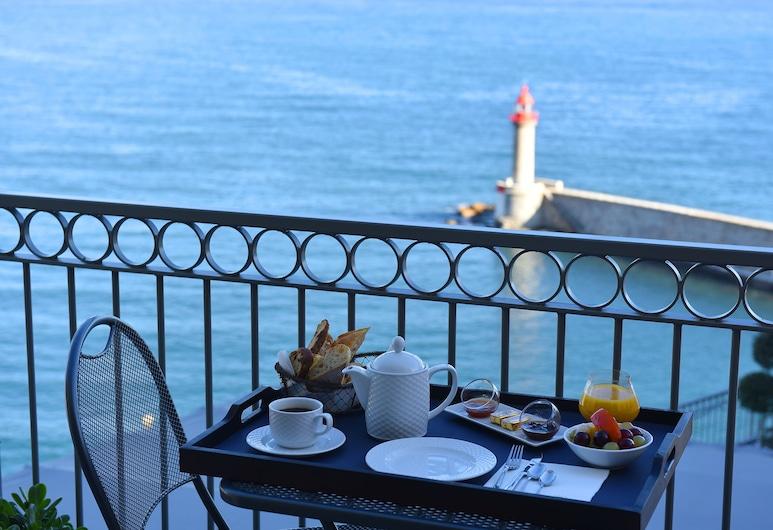 Hôtel des Gouverneurs, Bastia, Superior - kahden hengen huone, Parveke, Parveke