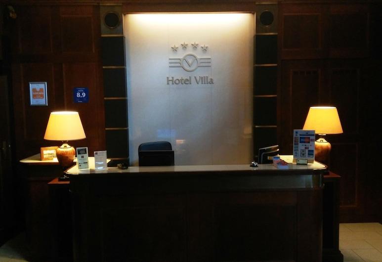 Hotel Villa, Praga, Recepção