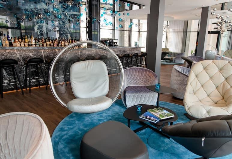 Motel One Stuttgart-Bad Cannstatt, Stuttgart, Lounge i lobby