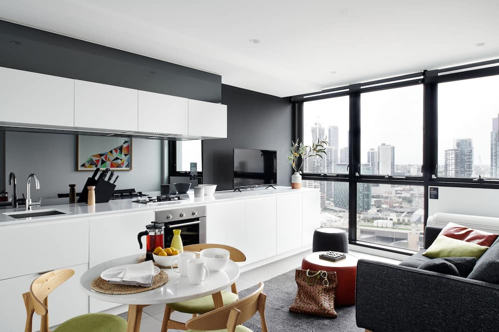 Superior One Bedroom Apartment - Área de estar