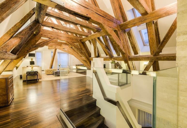 Residence Wollzeile, Wenen, Luxe suite, 2 slaapkamers (Beletage Suite), Woonruimte