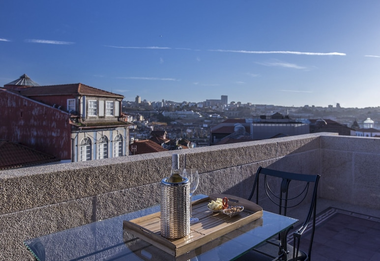 M Maison Particulière Porto, Porto, Suite – deluxe, utsikt mot byen, Terrasse/veranda