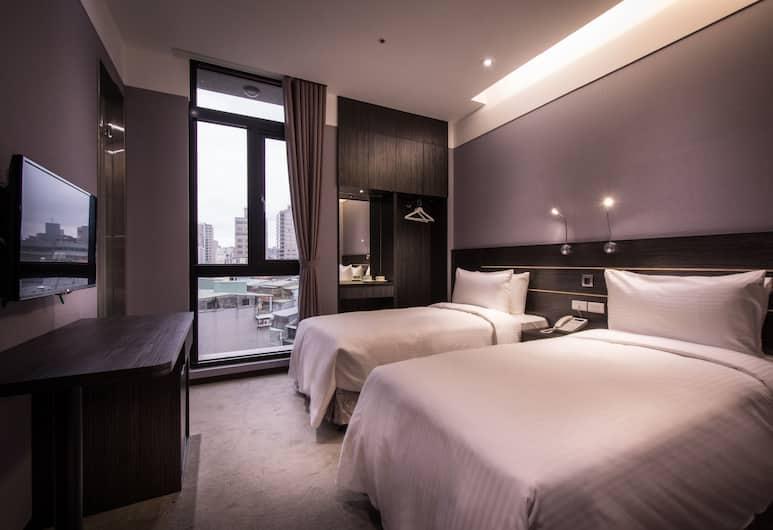 Yi Su Hotel Taipei, Tchaj-pej, Dvojlôžková izba typu Superior, Výhľad z hosťovskej izby
